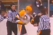 1984:  Lemieux' first home game, first fight