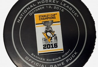 Special Game Puck for tonight's game